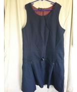 George Girl's Dark Navy School Uniform Belted and Pleated Sleeveless Dre... - $4.00