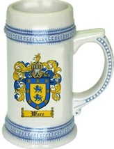 Ware Coat of Arms Stein / Family Crest Tankard Mug - $21.99