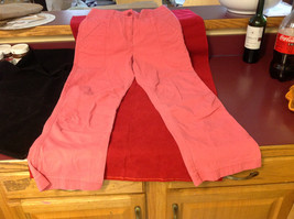Hanna Anderson Womens Pink Denim Cargo Pocket 3/4 Length Capri Pants size 10