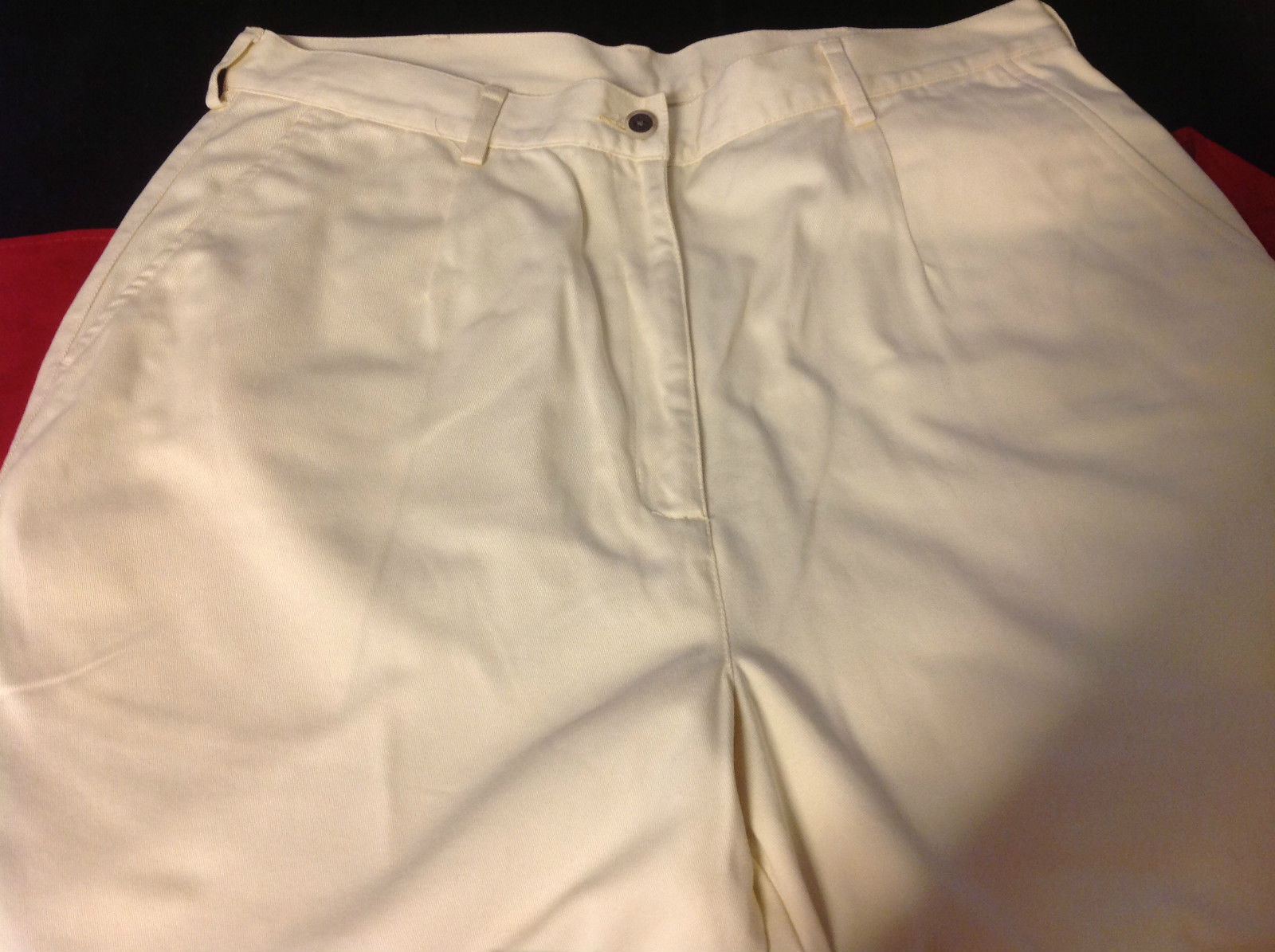 L L Bean womens cream color pants size 16 regular