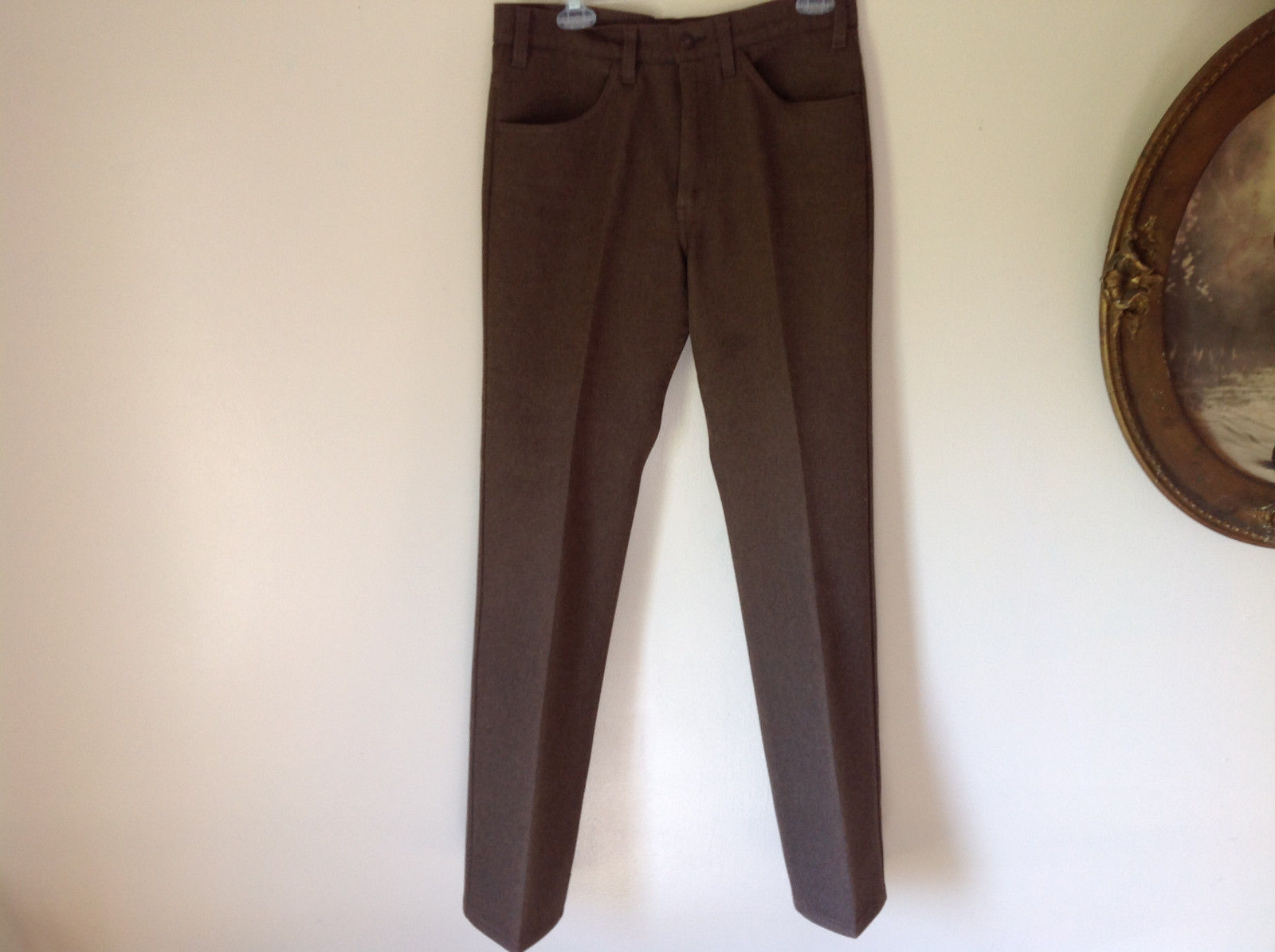 Levis Jean Like Brown High Quality Material Pants 2 Front Pockets No Size Tag