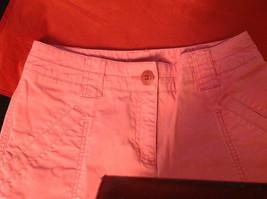 Hanna Anderson Womens Pink Denim Cargo Pocket 3/4 Length Capri Pants size 10 image 9