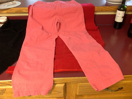 Hanna Anderson Womens Pink Denim Cargo Pocket 3/4 Length Capri Pants size 10 image 5