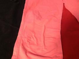 Hanna Anderson Womens Pink Denim Cargo Pocket 3/4 Length Capri Pants size 10 image 3