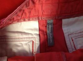 Hanna Anderson Womens Pink Denim Cargo Pocket 3/4 Length Capri Pants size 10 image 8