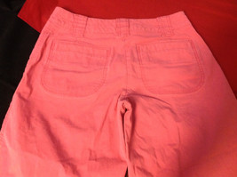 Hanna Anderson Womens Pink Denim Cargo Pocket 3/4 Length Capri Pants size 10 image 6