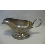 "Gravy Sauce Boat Bowl Silver Plate With Handle 4"" High 7 3/4"" long - $9.95"