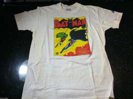 "Vintage Screen Print Batman Comic Book T-Shirt ""All Brand New Adventures of..."""