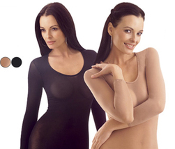 2 Sheer Shirts Black Beige Transparent Underwear - $37.95