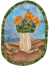Sunflowers: Quilted Art Wall Hanging - $225.00