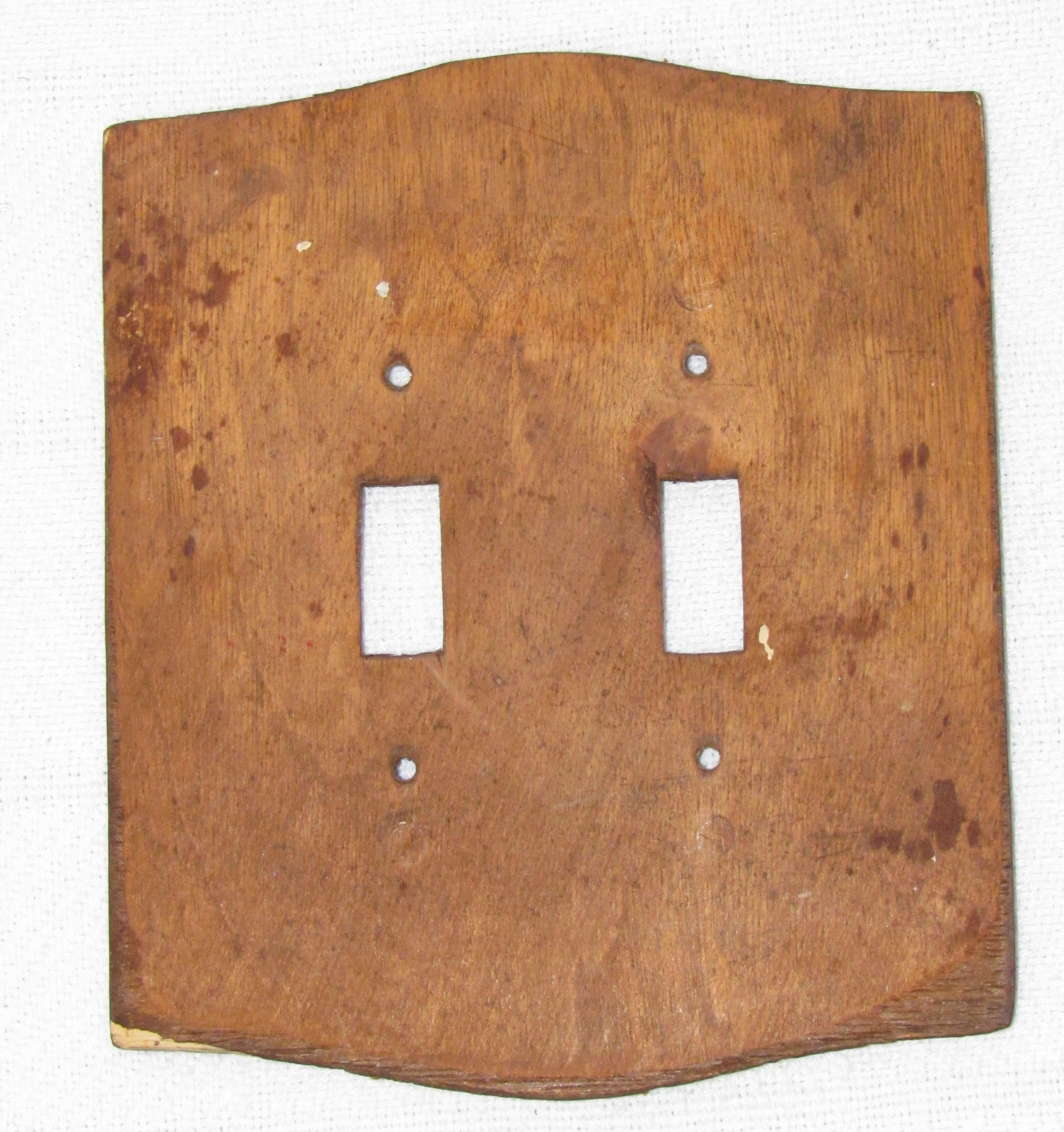 Carved wood double light switch cover rustic decor switch for Decor light switch