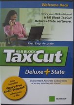 H&R Block TaxCut Deluxe + State - CD-ROM - Filing Edition for the 2005 Tax Ye... - $14.84