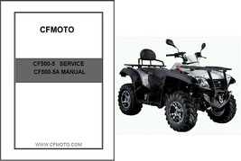 CFMoto CForce 500 CF500-5 / CF500-5A Service Repair & Owner's Manual CD - $12.00