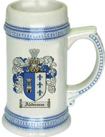 Aldecocea Coat of Arms Stein / Family Crest Tankard Mug