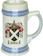 Androe Coat of Arms Stein / Family Crest Tankard Mug - $21.99