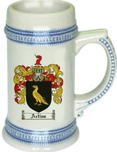 Artiss Coat of Arms Stein / Family Crest Tankard Mug - $21.99