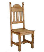 Rustic Plain Wood Seat Chair Solid Wood Western Cabin Lodge Dinning Room - $202.95
