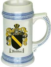 Braddene Coat of Arms Stein / Family Crest Tankard Mug - $21.99