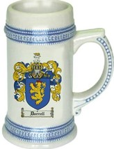 Darrell Coat of Arms Stein / Family Crest Tankard Mug - $21.99