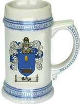 Gettys Coat of Arms Stein / Family Crest Tankard Mug - $21.99