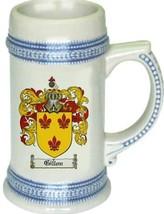 Gillon Coat of Arms Stein / Family Crest Tankard Mug - $21.99