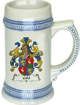 Gohl Coat of Arms Stein / Family Crest Tankard Mug - $21.99
