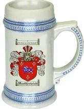 Heatherwick Coat of Arms Stein / Family Crest Tankard Mug - $21.99