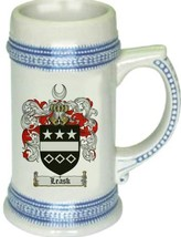 Leask Coat of Arms Stein / Family Crest Tankard Mug - $21.99