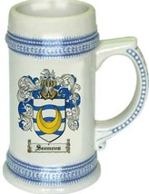 Seamons Coat of Arms Stein / Family Crest Tankard Mug - $21.99