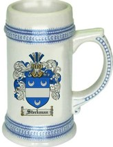 Steckman Coat of Arms Stein / Family Crest Tankard Mug - $21.99