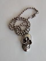 creepy skull pendant and chain - $14.95