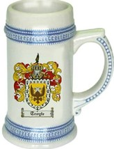 Troyte Coat of Arms Stein / Family Crest Tankard Mug - $21.99