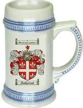 Ashairst Coat of Arms Stein / Family Crest Tankard Mug - $21.99
