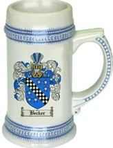 Becker Coat of Arms Stein / Family Crest Tankard Mug - $21.99