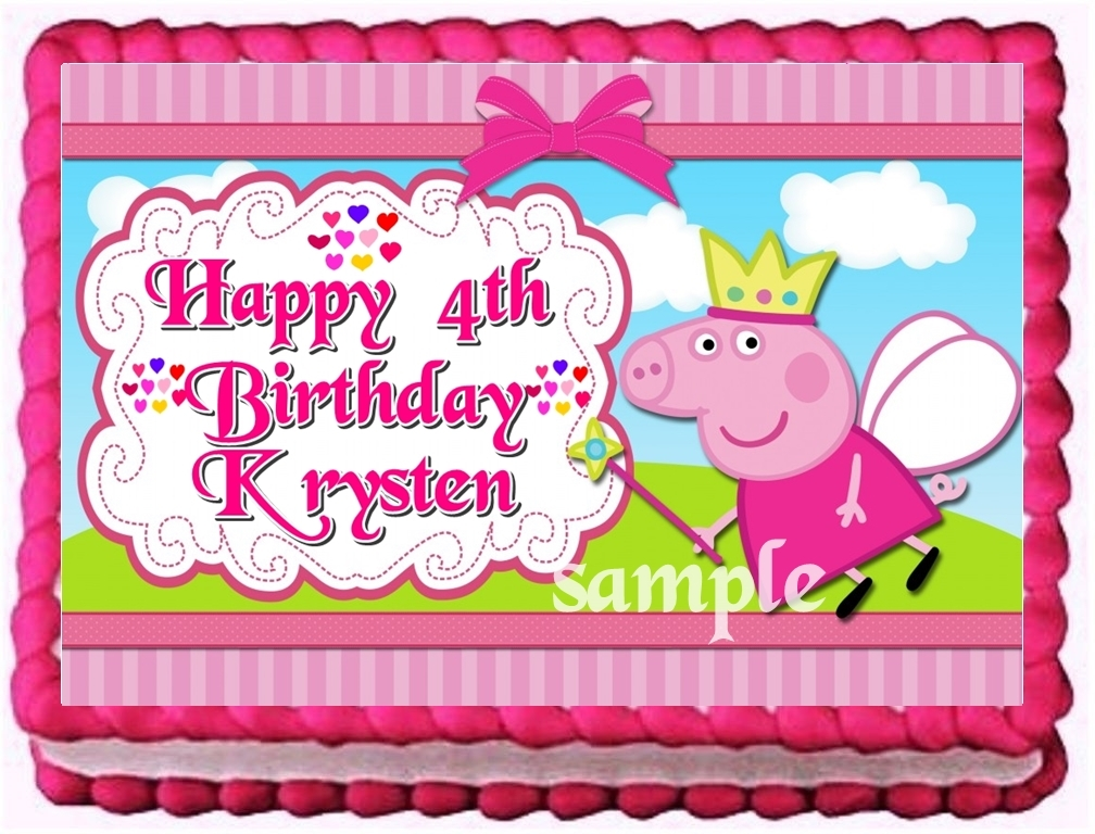 Peppa Pig Edible Cake Topper Birthday Party and 50 similar ...