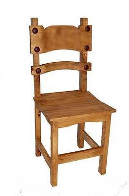 Rustic Poker Chair Solid Wood Western Cabin Lodge Dinning Room