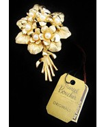 Vintage BOUCHER Flower of the Month Pearl Brooc... - $61.75