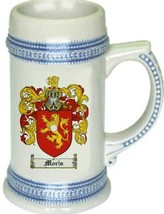 Moris Coat of Arms Stein / Family Crest Tankard Mug - $21.99