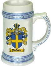 Lacroix Coat of Arms Stein / Family Crest Tankard Mug - $21.99