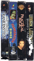 Scary Movie Collection HALLOWEEN Party 5 VHS Movies Frankenstein, Urban ... - $45.99
