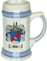 Reger Coat of Arms Stein / Family Crest Tankard Mug - $21.99