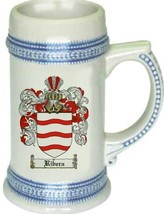 Ribera Coat of Arms Stein / Family Crest Tankard Mug - $21.99