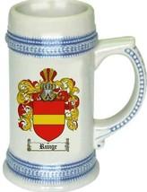 Runge Coat of Arms Stein / Family Crest Tankard Mug - $21.99