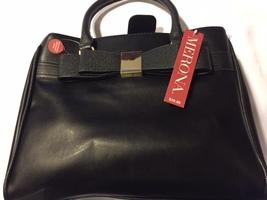 Merona Black Sachel Pocketbook Purse Detachable Crossbody Strap T-1062      - $42.21