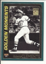 (SC-3) 2001 Topps Baseball Card #784: Roberto Clemente - Golden Moments - $1.25