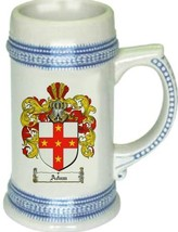 Adam Coat of Arms Stein / Family Crest Tankard Mug - $21.99