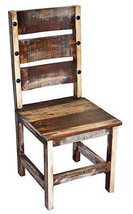 Rustic Slatted Barrel Dinette Chair Solid Wood Western Cabin Lodge Dinni... - $232.65
