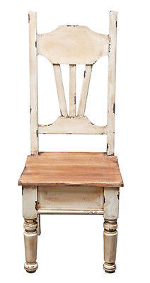 Rustic Heirloom Chair Solid Wood Western Cabin Lodge Dinning Room Shabby Chic