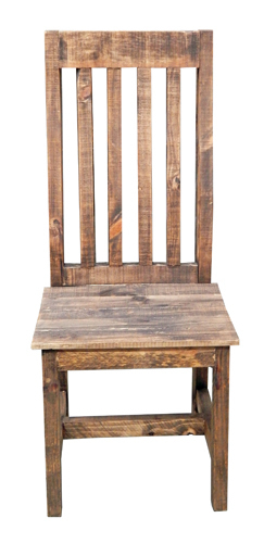 Rustic Santa Rita Dining Chair Solid Wood Western Cabin Lodge Dining Room