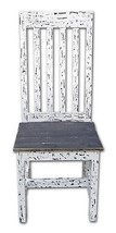 Rustic White Scraped Santa Rita Chair Solid Wood Western Cabin Lodge Din... - $212.85